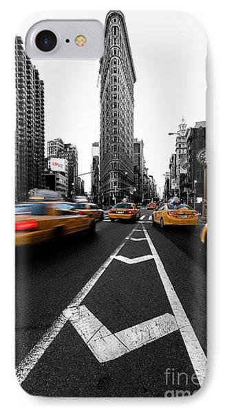 Flatiron Building Nyc IPhone Case by John Farnan