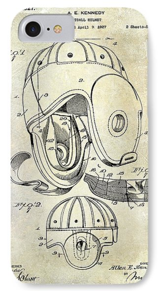 Football Helmet Patent IPhone Case by Jon Neidert