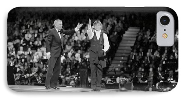 Frank Sinatra And Mikhail Barysnikov IPhone Case by Mountain Dreams