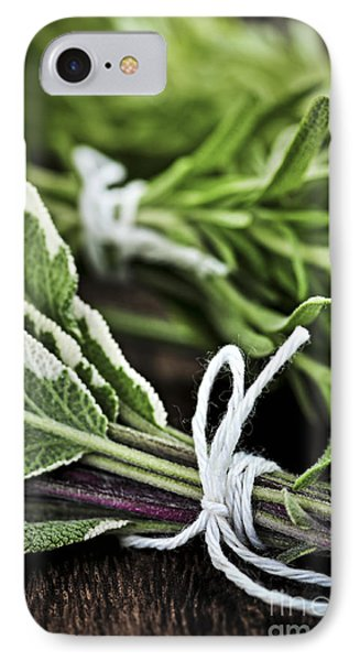 Fresh Herbs In Bunches IPhone Case by Elena Elisseeva
