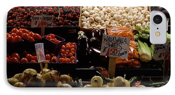 Fruits And Vegetables At A Market IPhone 7 Case by Panoramic Images