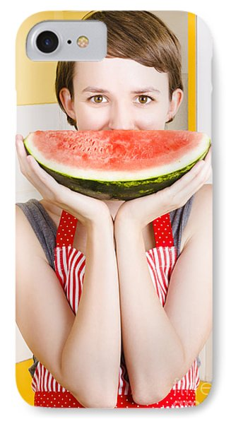 Funny Woman With Juicy Fruit Smile IPhone Case by Jorgo Photography - Wall Art Gallery