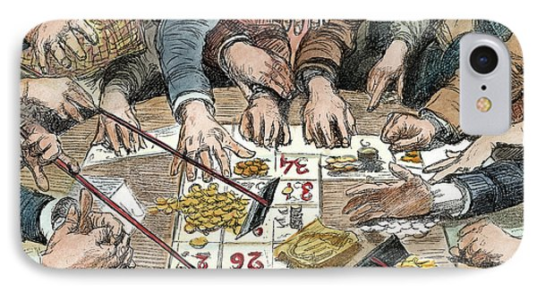 Gambling Table, 1886 IPhone Case by Granger