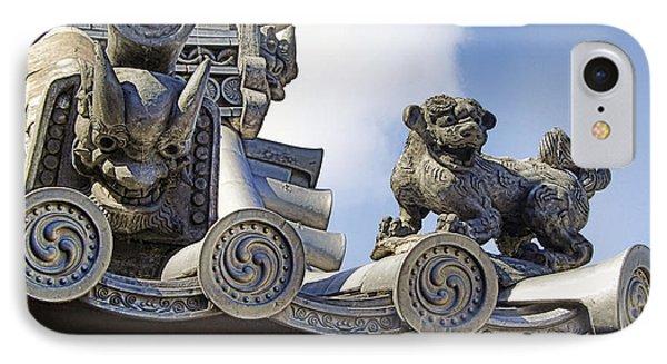 Gargoyles Of Horyu-ji Temple - Nara Japan IPhone Case by Daniel Hagerman