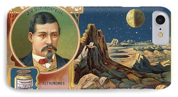 Giovanni Schiaparelli Lunar Advert IPhone Case by Detlev van Ravenswaay