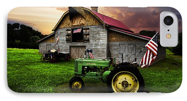 God Bless America IPhone Case by Debra and Dave Vanderlaan