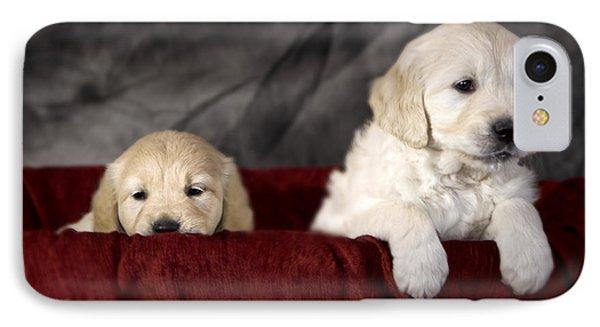 Golden Retriever Puppies Phone Case by Angel  Tarantella