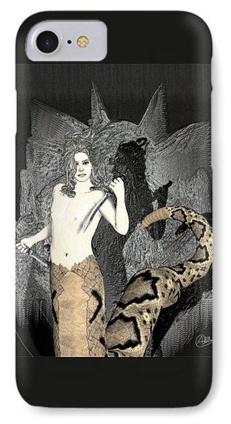 Gorgon Medusa  IPhone Case by Quim Abella