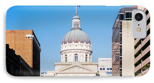 Government Building In A City, Indiana IPhone Case by Panoramic Images