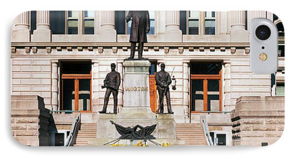 Governor Oliver Morton Monument IPhone Case by Panoramic Images