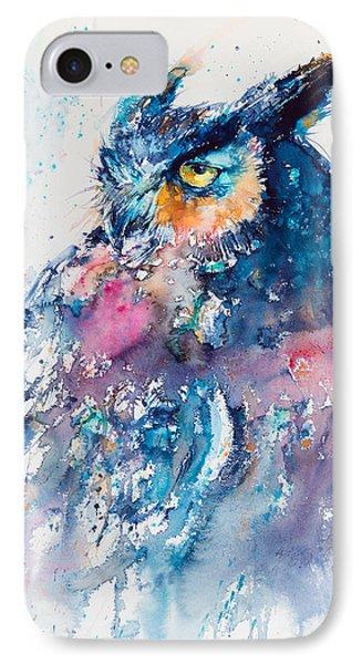 Great Horned Owl IPhone 7 Case by Kovacs Anna Brigitta