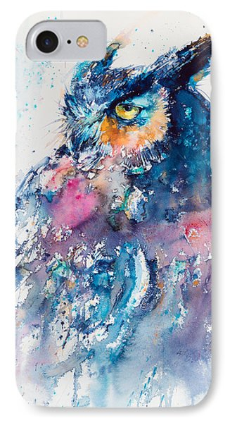 Great Horned Owl IPhone Case by Kovacs Anna Brigitta