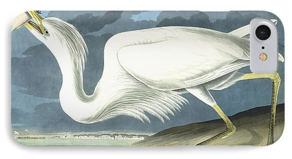 Great White Heron IPhone 7 Case by John James Audubon