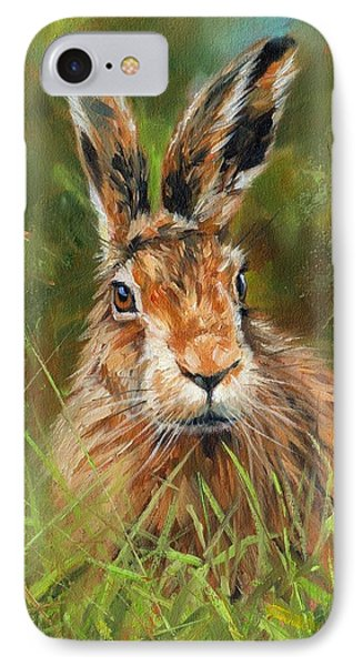 hARE IPhone 7 Case by David Stribbling