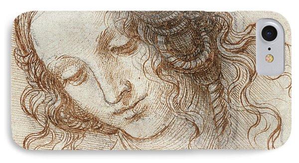 Head Of Leda IPhone Case by Leonardo Da Vinci