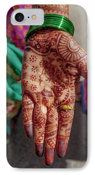 Henna Decoration IPhone Case by Tom Norring
