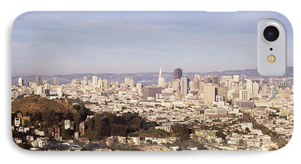High Angle View Of A City, San IPhone Case by Panoramic Images