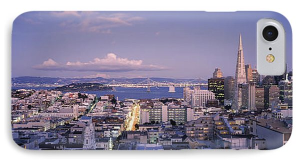 High Angle View Of A Cityscape From Nob IPhone Case by Panoramic Images