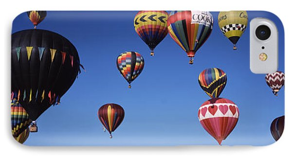 Hot Air Balloons Floating In Sky IPhone Case by Panoramic Images