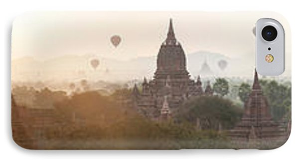 Hot Air Balloons Rise Above The Ancient IPhone Case by Panoramic Images
