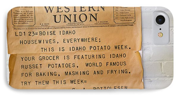 Idaho Potato Museum IPhone 7 Case by Jim West