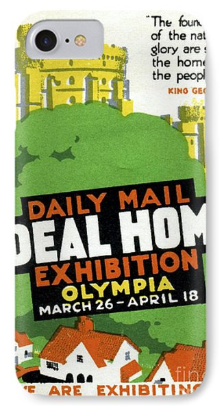 Ideal Home Exhibition Stamp, 1920 IPhone Case by CCI Archives
