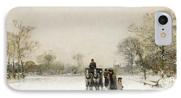 In The Snow IPhone Case by Luigi Loir