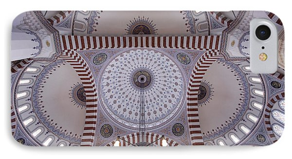 Inside The Azadi Mosque At Ashgabat In Turkmenistan Phone Case by Robert Preston