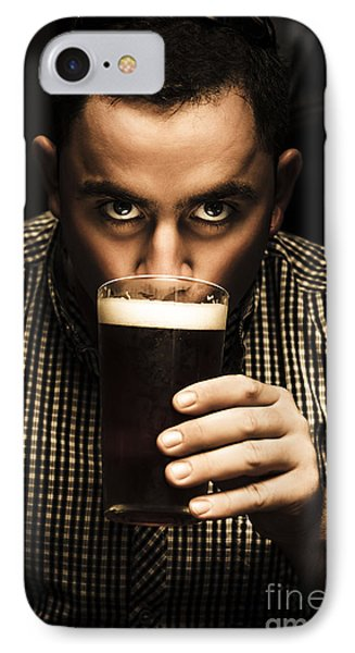 Irish Man Drinking Beer On St Patricks Day IPhone Case by Jorgo Photography - Wall Art Gallery