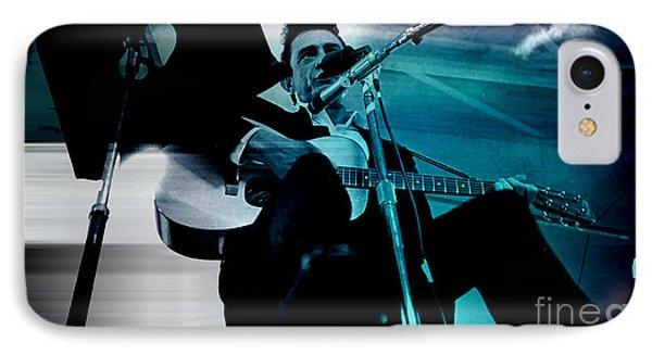 Johnny Cash IPhone Case by Marvin Blaine