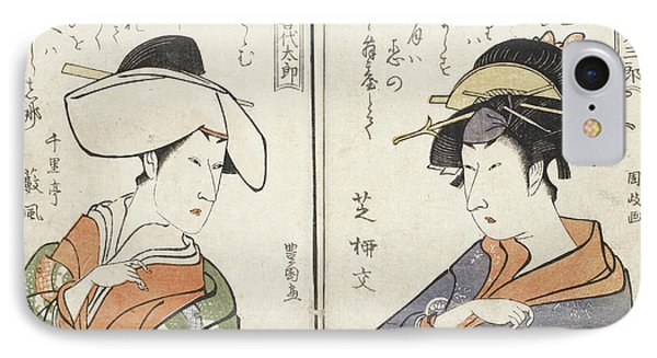 Kabuki Actors IPhone Case by British Library