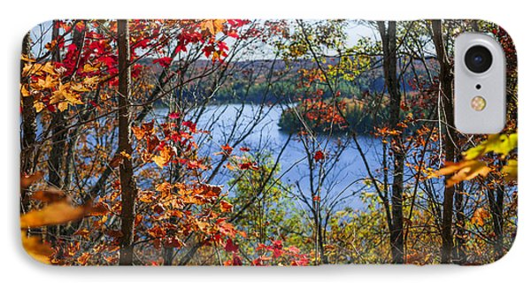 Lake And Fall Forest IPhone Case by Elena Elisseeva