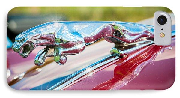 Leaping Jaguar IPhone Case by Sebastian Musial