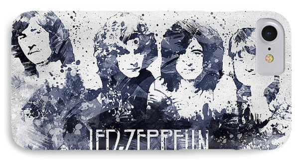Led Zeppelin Portrait IPhone 7 Case by Aged Pixel