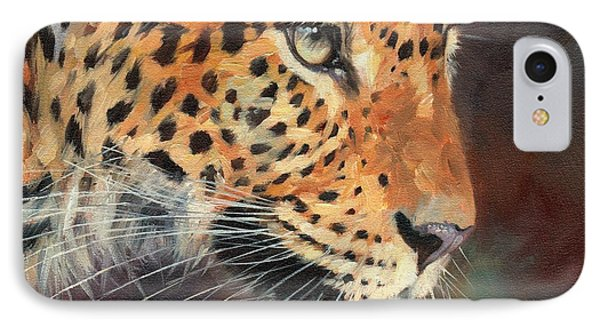 Leopard IPhone 7 Case by David Stribbling