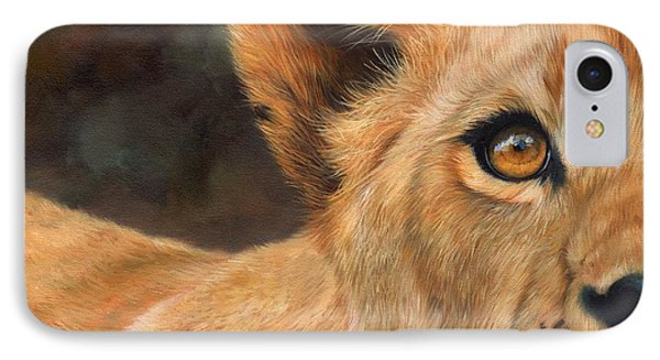 Lioness Phone Case by David Stribbling