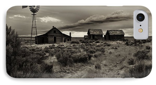 Lonely House On The Prairie Phone Case by Mike  Dawson