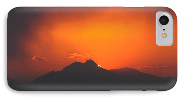 Longs Peak Sunset IPhone Case by Aaron Spong