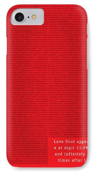 Love In Pi IPhone Case by Martin Krzywinski