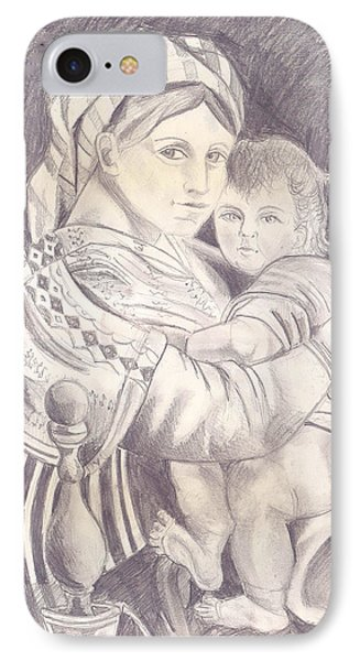 Madonna And Child Phone Case by John Keaton