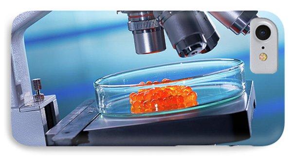 Medical Microscope And Petri Dish IPhone Case by Wladimir Bulgar