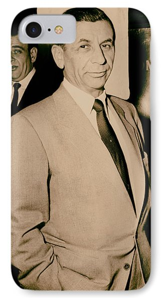 Meyer Lansky - The Mob's Accountant 1957 IPhone Case by Mountain Dreams