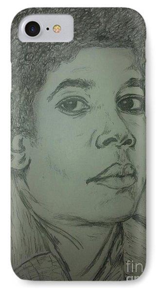 Michael Jackson Art IPhone Case by Collin A Clarke