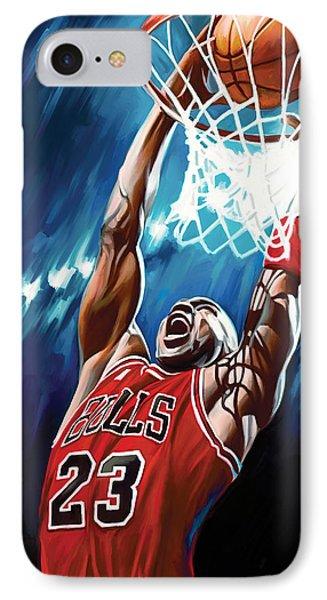 Michael Jordan Artwork Phone Case by Sheraz A
