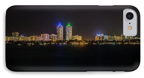 Millionaire's Row Miami Beach Skyline Phone Case by Rene Triay Photography