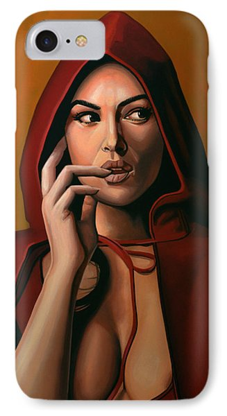 Monica Bellucci IPhone Case by Paul Meijering