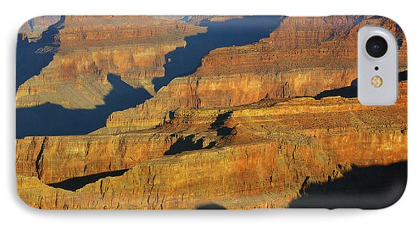 Morning Color And Shadow Play In Grand Canyon National Park Phone Case by Shawn O'Brien