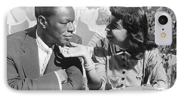 Nat King Cole And His Wife Maria 1954 IPhone Case by The Phillip Harrington Collection