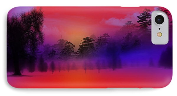 Nature Composition In Blue IPhone Case by Mark Ashkenazi