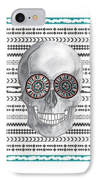 Navajo Skull IPhone Case by Susan Claire